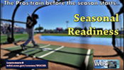 Screenshot of baseball themed motivation poster for seasonal readiness training