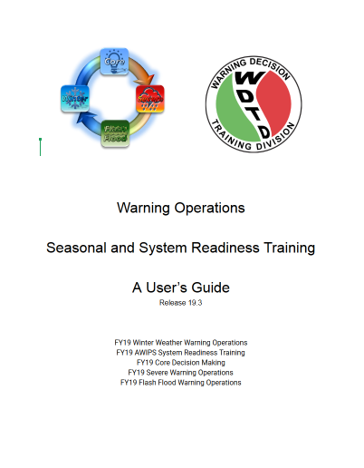 Screenshot of first page of Seasonal Readiness Training guide
