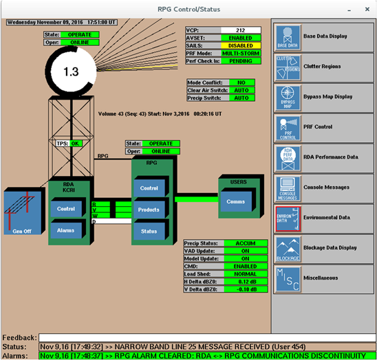 Screenshot of the Radar Product Generator