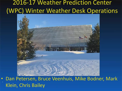 Example slide from the WPC Winter Operations webinar for the 2016-2017 season